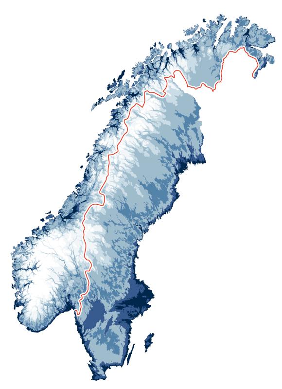 Skandinavische Halbinsel mit Norwegen und Schweden