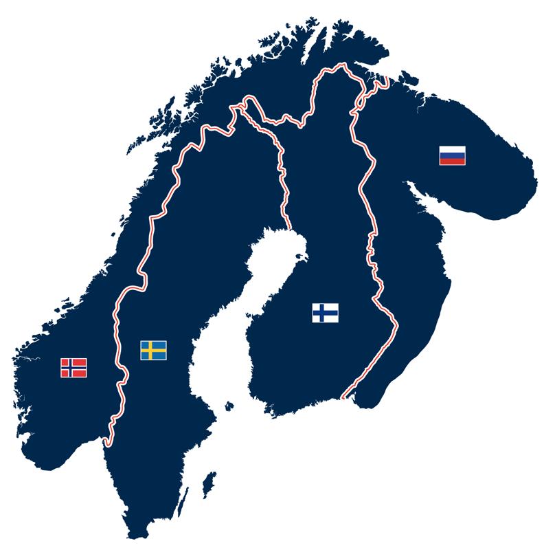 Fennoskandinavien mit skandinavischer Halbinsel, Finnland, Karelien und Kola-Halbinsel (Russland)