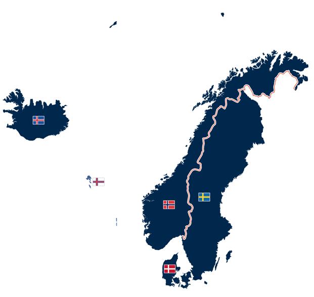 Länder der Nordgermanischen Sprachfamilie - Skandinavien, Island, Färöer Inseln