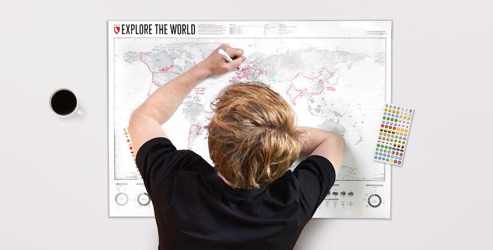 Explore the World - die Weltkarte zum selber Gestalten