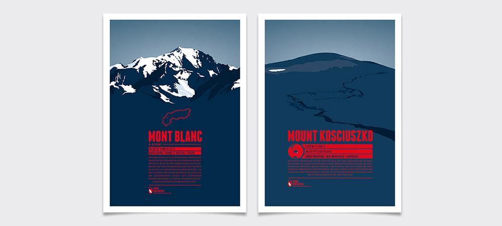 Alternative Seven Summits-Kandidaten: Mont Blanc für Europa und Mount Kosciuszko für Australien