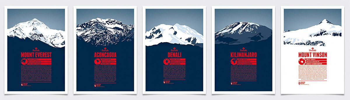 Die 5 unumstrittenen Berge der Seven Summits - Mount Everest, Aconcagua, Mount Vinson, Denali und Kilimandscharo