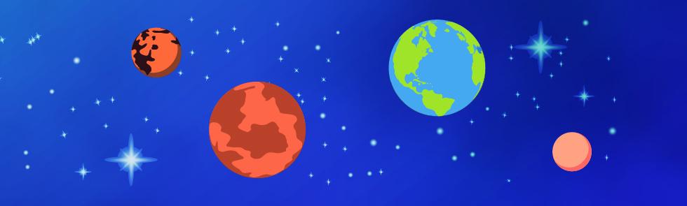 Die inneren Planeten des Sonnensystems - Mars, Venus, Erde, Merkur