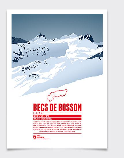 Becs de Bosson print