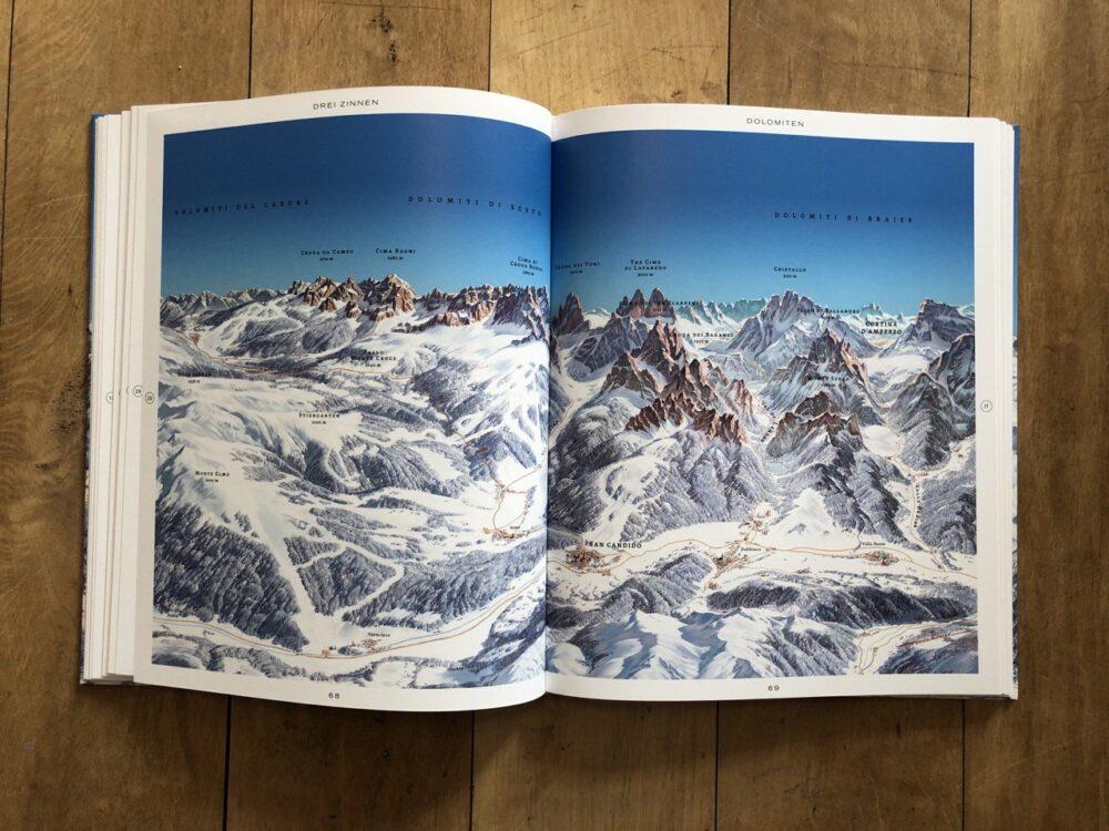 Drei Zinnen/Dolomiten Panoramakarte