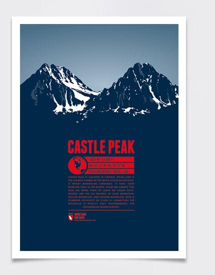 Castle Peak - Bergdruck - Marmota Maps on
