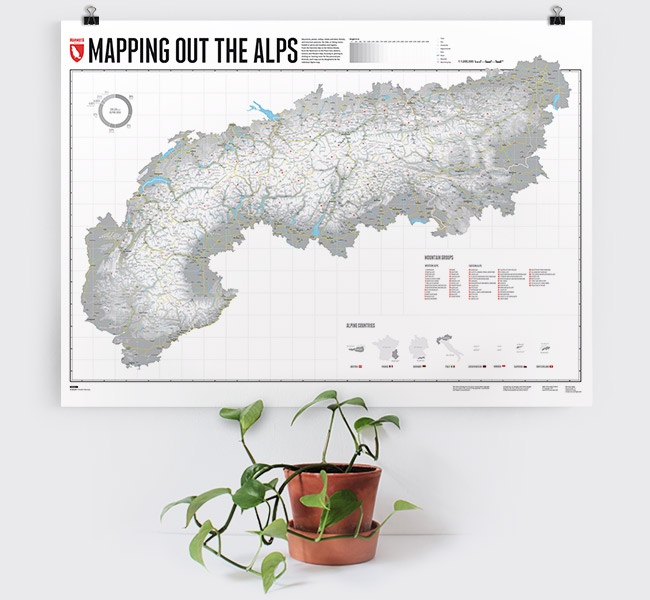 Wall Map - Mapping out the Alps - Marmota Maps