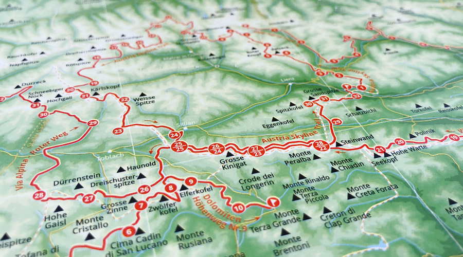 The Alps - 1001 Mountains - one Map - Marmota Maps