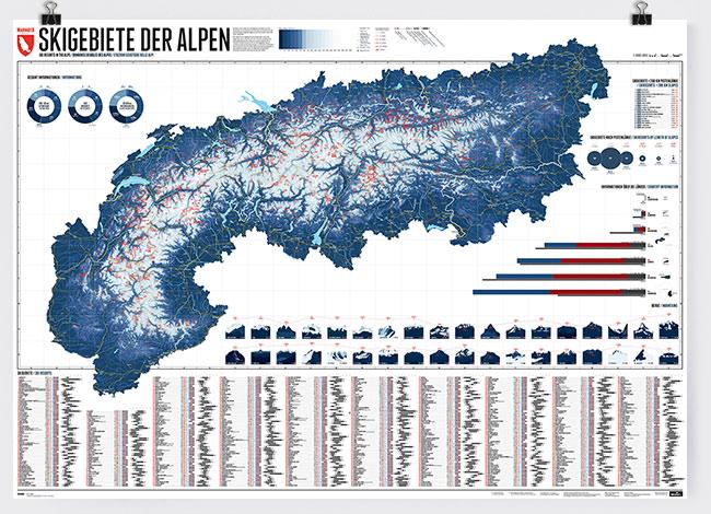 The Alps - 630 Ski Resorts - One Map - Marmota Maps