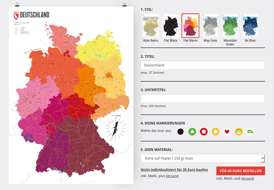 deutschlandkarte zum markieren Deutschlandkarte individualisieren – so geht's   Marmota Maps