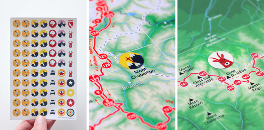 Marmota Stickers for our mountain map