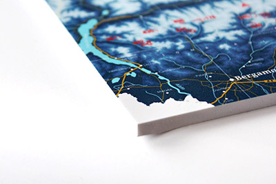 Ski resort map on foamcore
