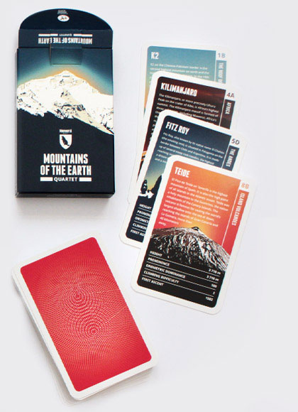 Mountains of the Earth quartet card game
