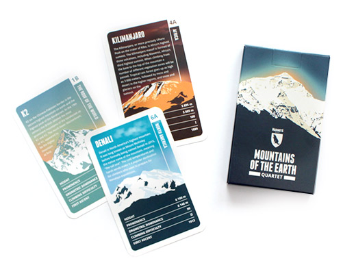 Quartet card game of the Mountains of the Earth