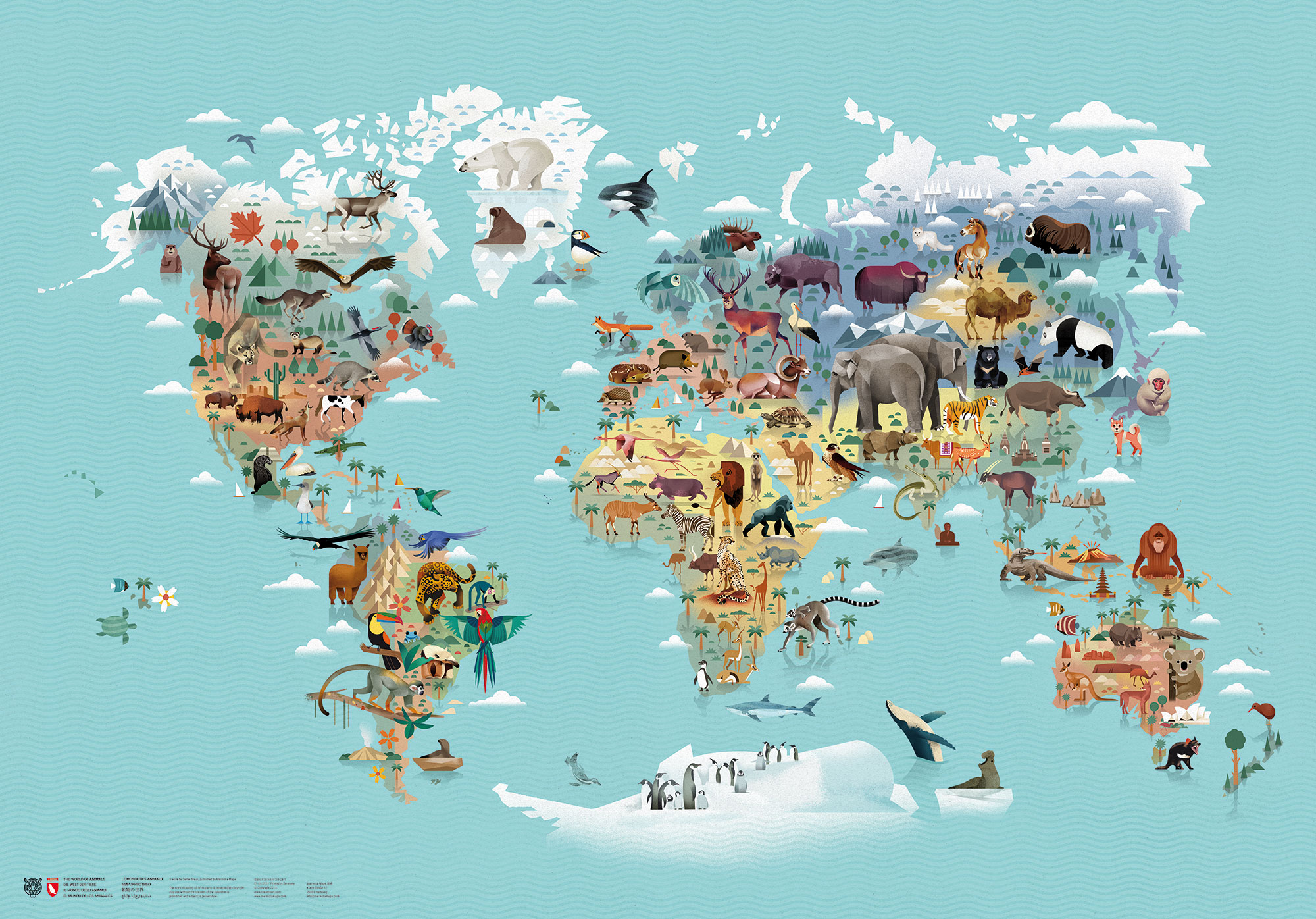The World Of Animals Marmota Maps