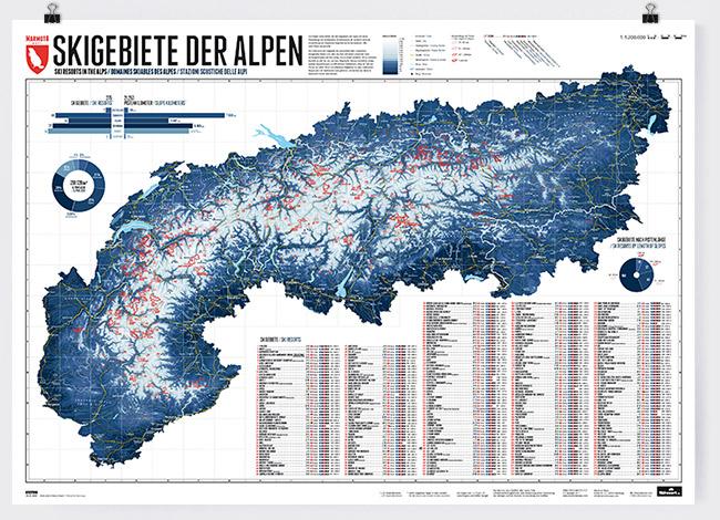Map of the Alps with 275 ski resorts - Marmota Maps Map Of Ski Va on